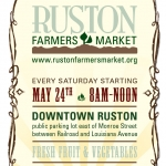 Ruston Farmers Market poster