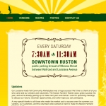 Ruston Farmers Market web site
