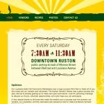 Ruston Farmers Market web site