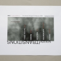 2008-01 soundTRANSITIONS promotional silkscreen poster