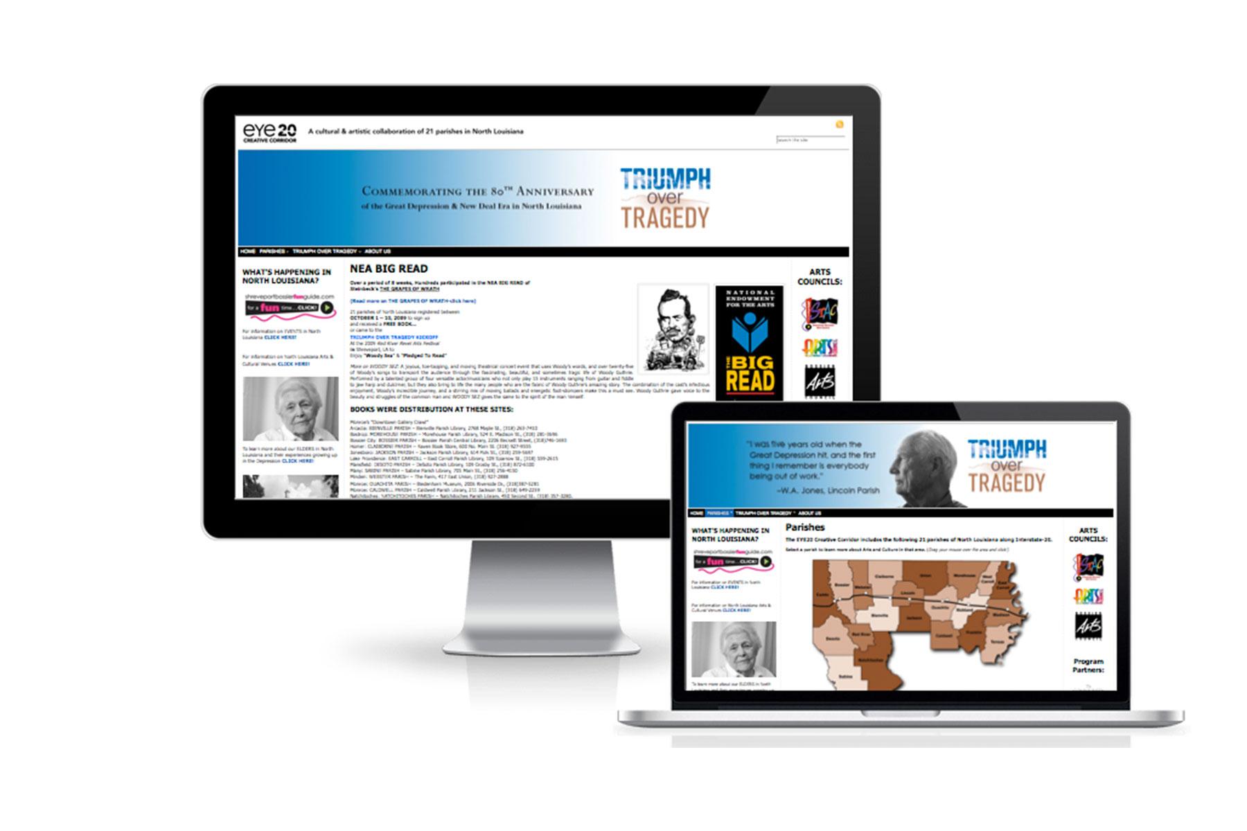 SRAC: EYE20 Creative Corridor: Triumph Over Tragedy web site and interactive quiz