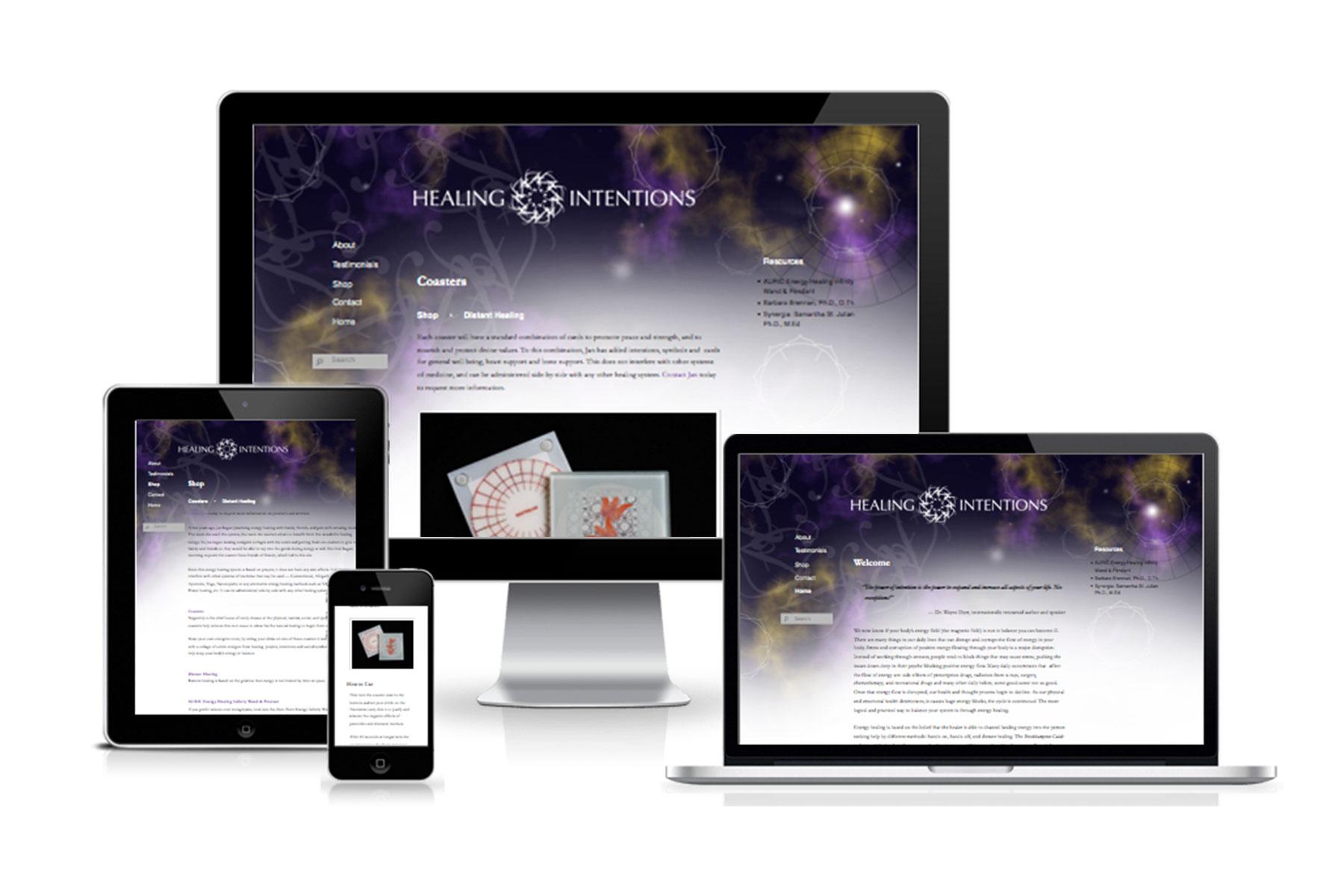 Healing Intentions website